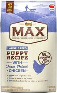 Product photo: Nutro Max Large Breed Dry Puppy Food. Click to check price.