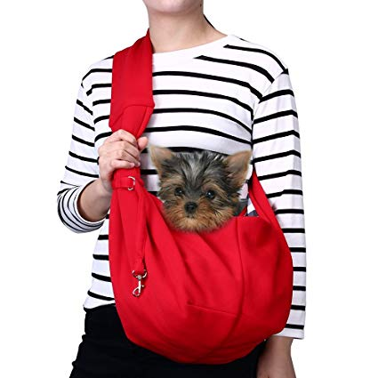 photo demonstrating how to use a dog sling