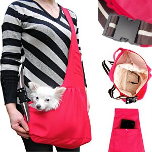 product photo for a fashionable dog sling